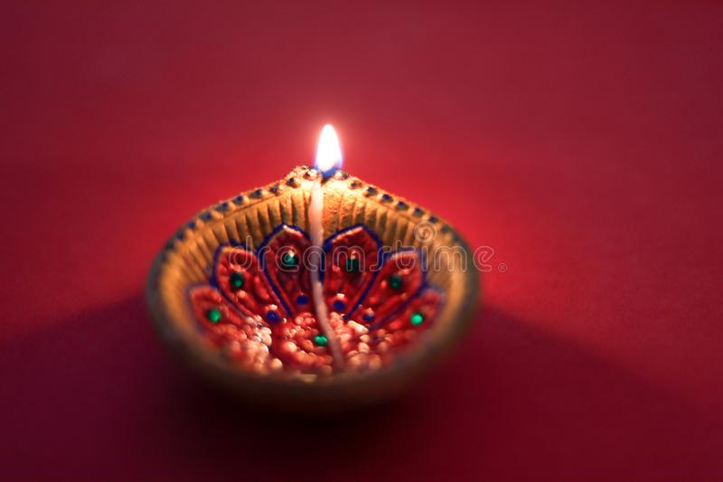 Festival indiano Diwali, lâmpada de Diwali fotografia de stock