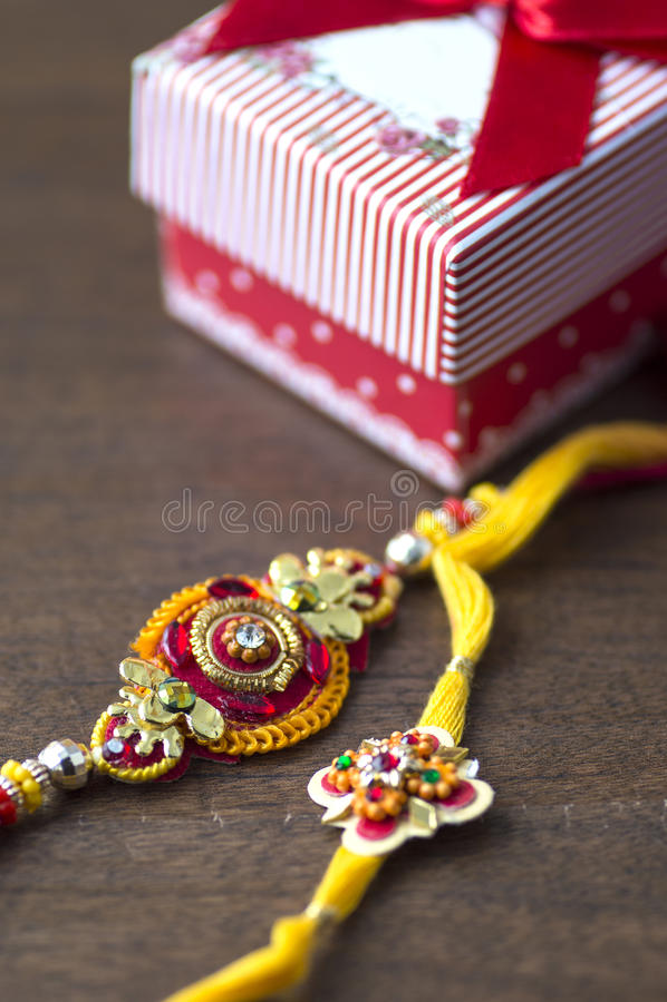 Festival indiano: Raksha Bandhan, Rakhi foto de stock
