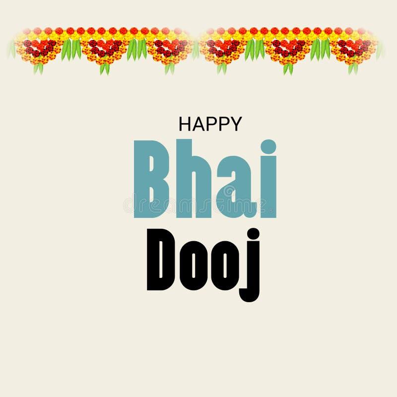 Festival indien de célébration de Bhai heureux Dooj illustration de vecteur