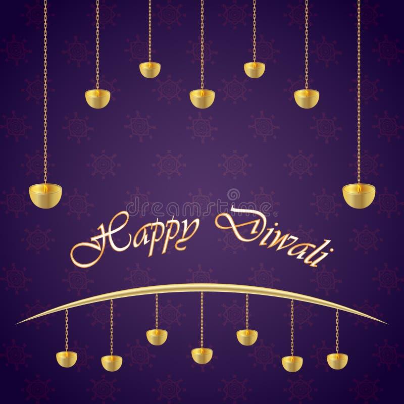 Festival indio del día de fiesta de Diwali del vector de las luces libre illustration