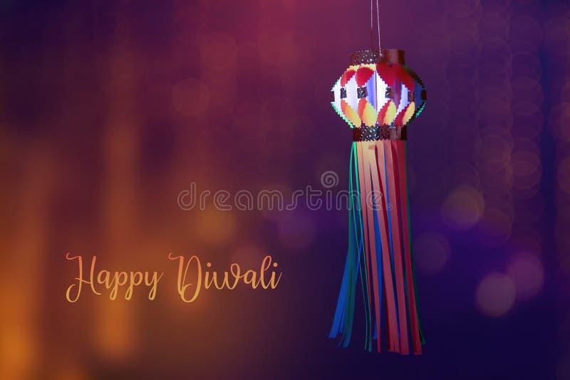 Festival indio Diwali, linterna fotografía de archivo libre de regalías