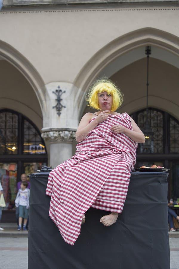 Festival internacional de los teatros ULICA de la calle en Cracow_Opening imagen de archivo