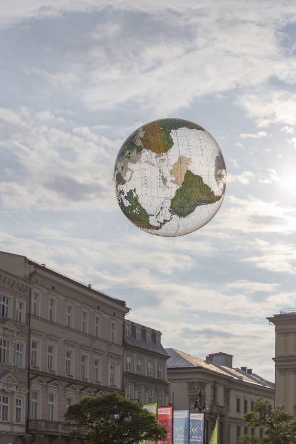 Festival internacional de los teatros ULICA de la calle en Cracow_Opening imagen de archivo libre de regalías