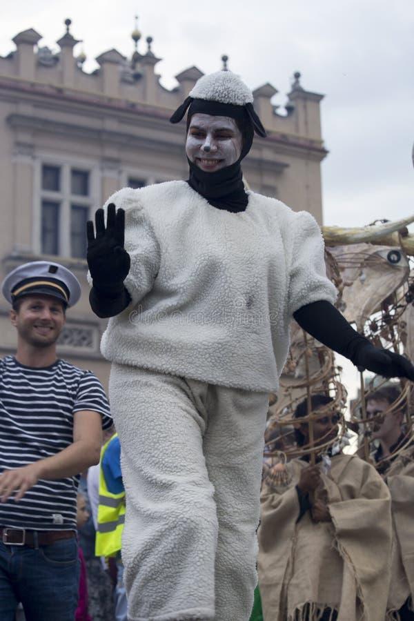 Festival internacional de los teatros ULICA de la calle en Cracow_Opening foto de archivo libre de regalías