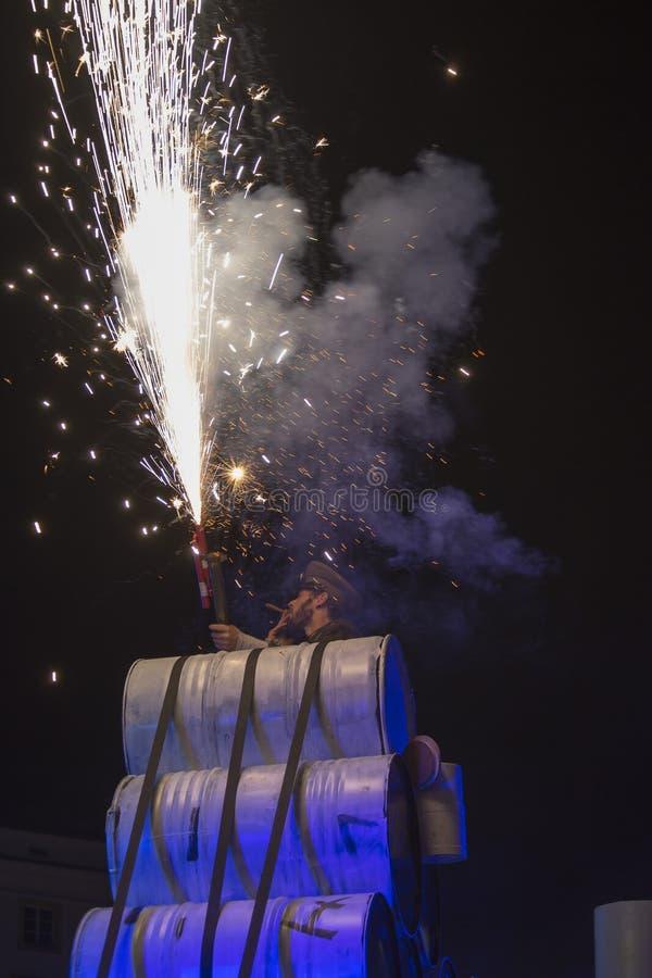 Festival internacional de los teatros ULICA de la calle en el teatro de Cracow_Xarxa fotografía de archivo
