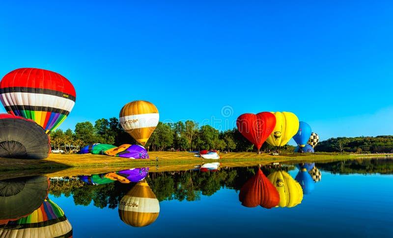 Festival internacional 2018 do balão do parque de Singha em Chiang Rai, Tailândia fotografia de stock royalty free