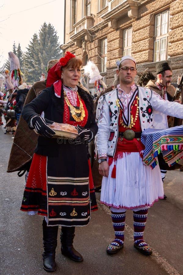 Festival international de Surva de jeu de mascarade photos libres de droits