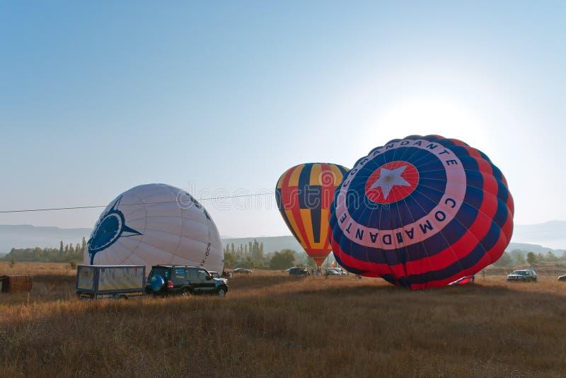 Festival international Montgolfeerie de ballon photographie stock libre de droits