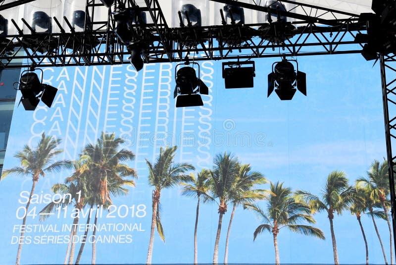 Festival internationell CANNESERIES - Cannes - Frankrike fotografering för bildbyråer