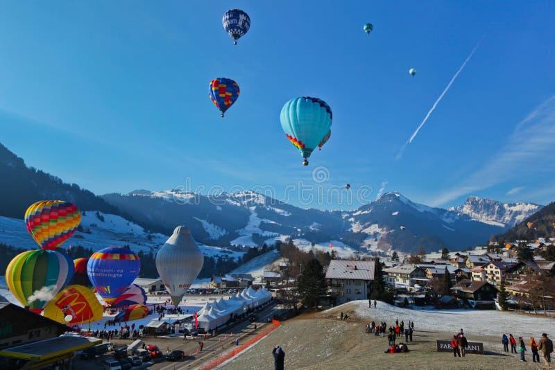 Festival internazionale annuale dell'aerostato di aria calda fotografia stock
