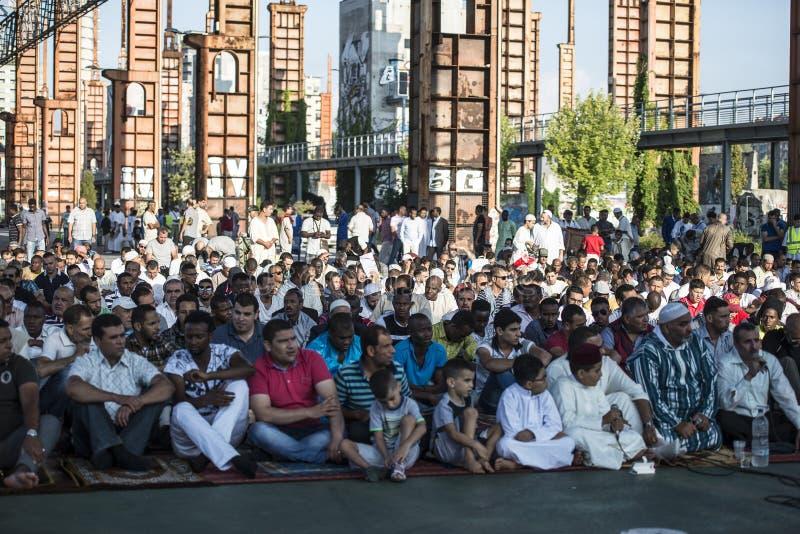 Festival islâmico do sacrifício em Turin, Itália imagem de stock royalty free