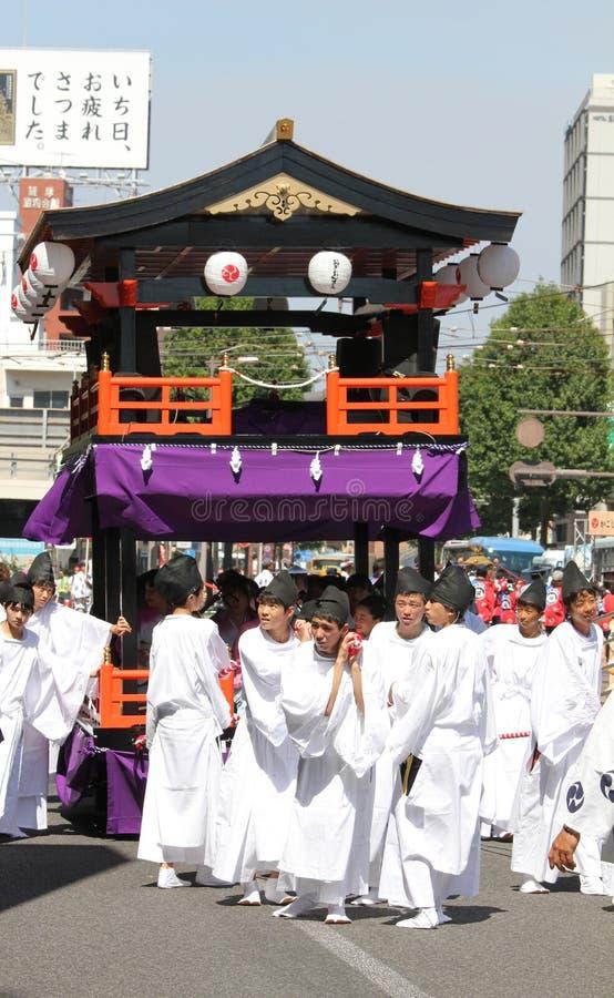 Festival japonés en Kagoshima imágenes de archivo libres de regalías