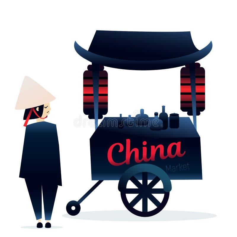 Festival justo de la comida del camión de China libre illustration