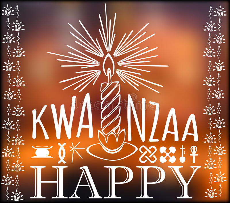 Festival Kwanzaa Carte de vacances illustration libre de droits