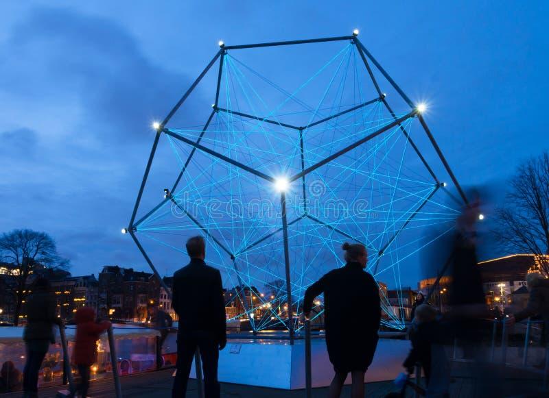 Festival léger d'Amsterdam photo libre de droits