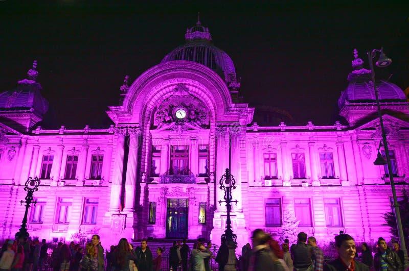 Festival léger international de Bucarest image libre de droits