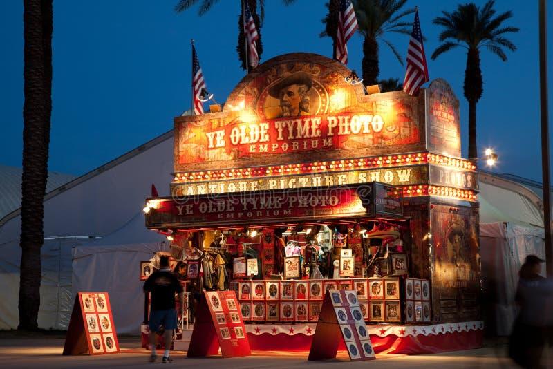 Festival la contea di Riverside della cabina della foto giusta fotografie stock