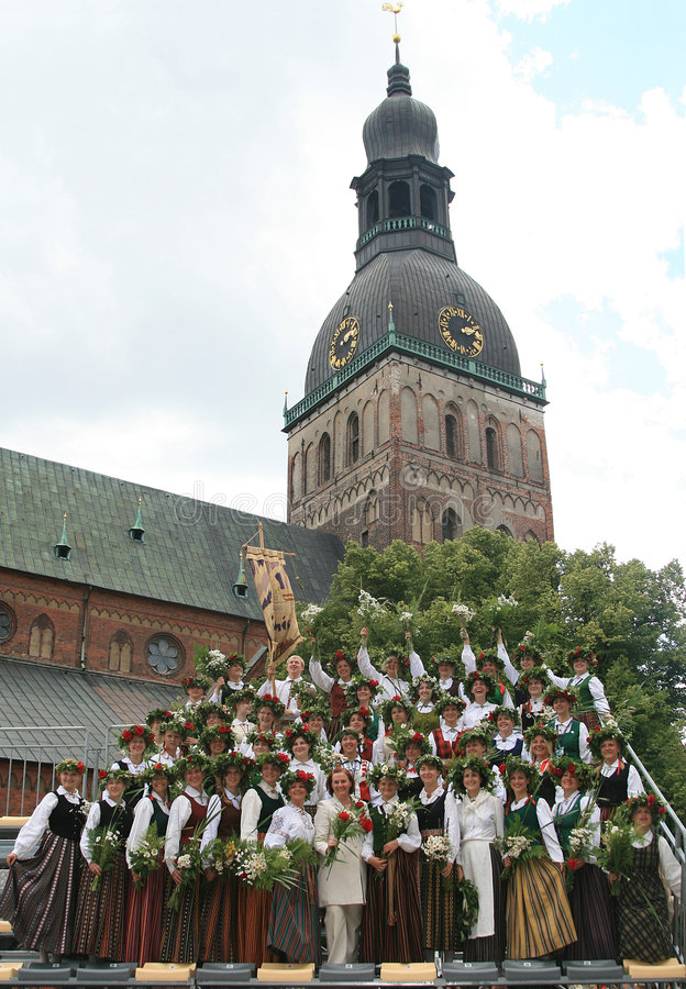 Festival letão da canção fotografia de stock