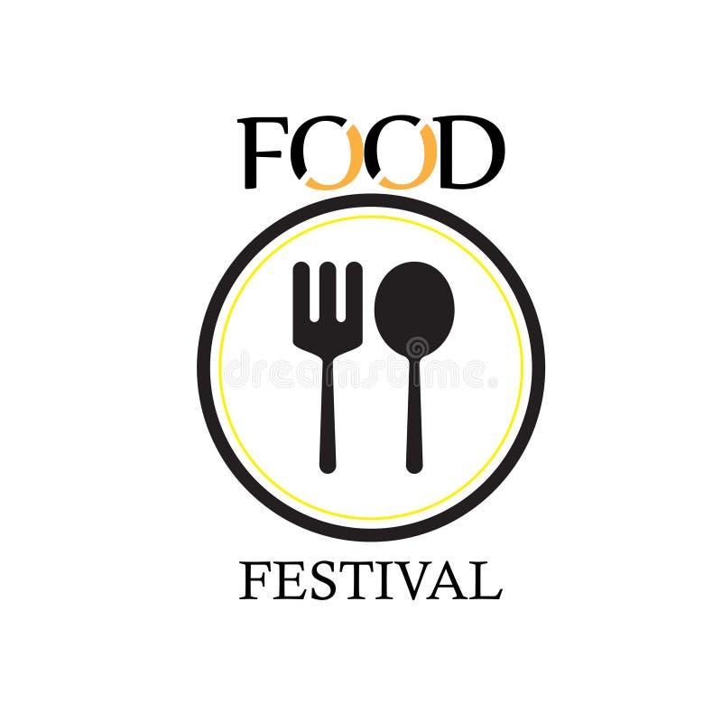 Festival Logo Vector Template Design Illustration de la comida stock de ilustración