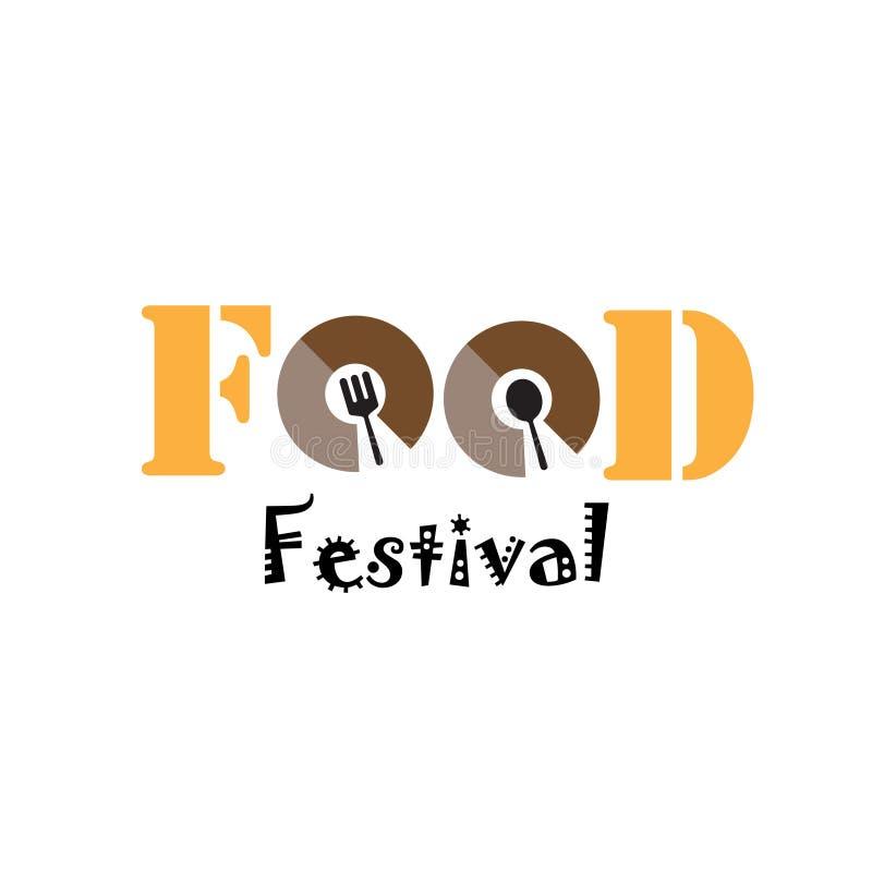 Festival Logo Vector Template Design Illustration de la comida libre illustration