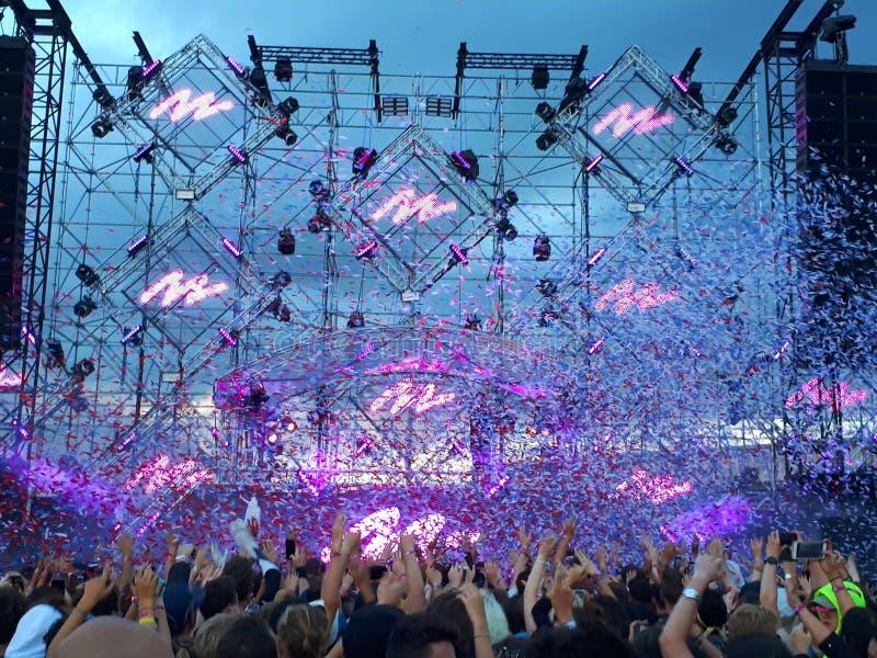 Festival Lollapalooza 2017 imagens de stock