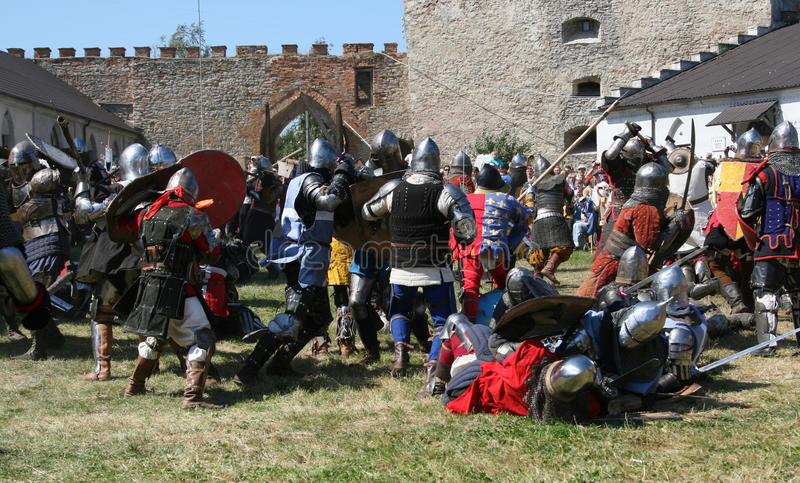 Festival of medieval culture stock photography