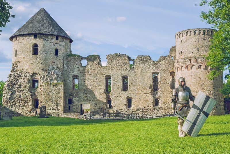 Festival medieval da luta em Letónia imagem de stock