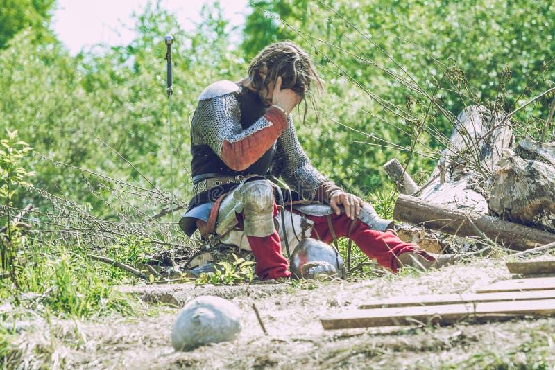 Festival medieval da luta em Letónia imagens de stock