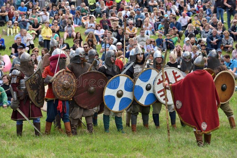 Festival medieval das lutas fotografia de stock