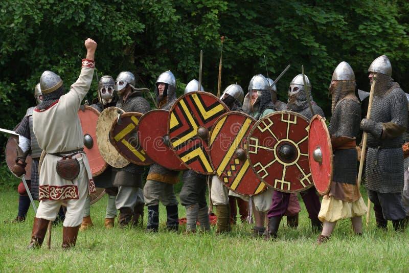 Festival medieval das lutas fotografia de stock royalty free