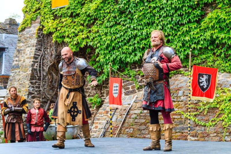 Festival medievale al castello di Cochem immagine stock libera da diritti