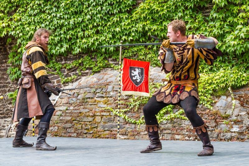 Festival medievale al castello di Cochem fotografia stock