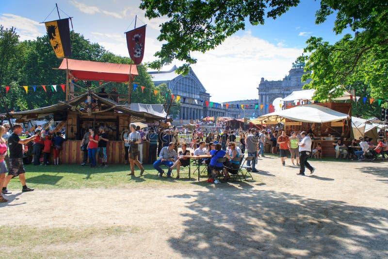 Festival medievale di Bruxelles immagini stock