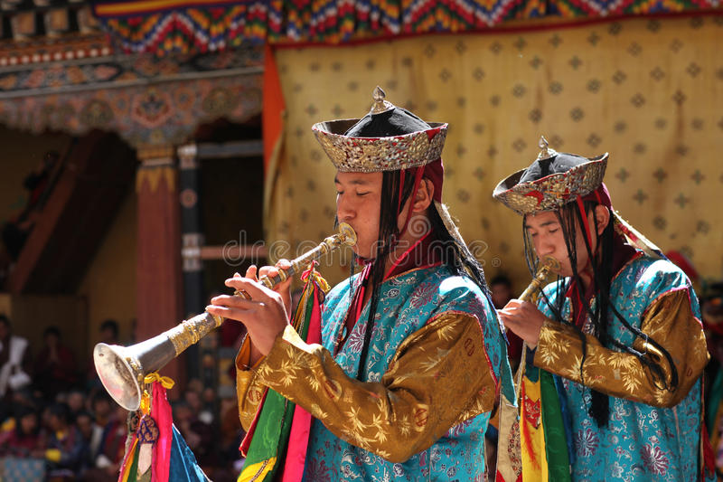 festival mig barn för monksparotsechu arkivbilder