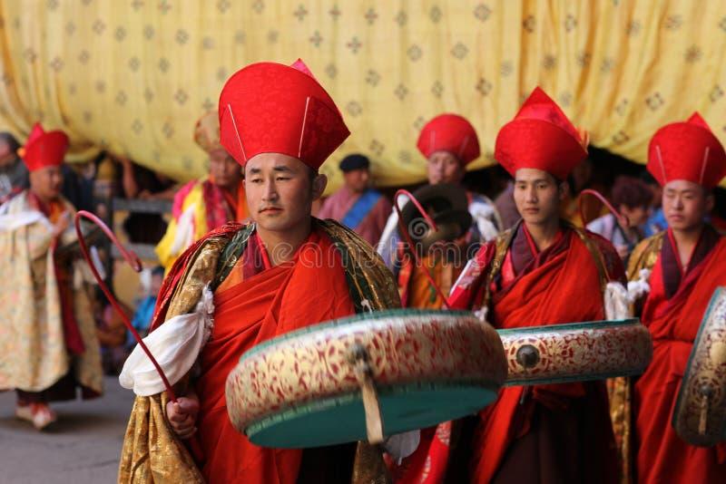 festival mig monksparotsechu royaltyfria foton