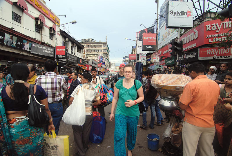 Festival Moment in Kolkata royalty free stock photo