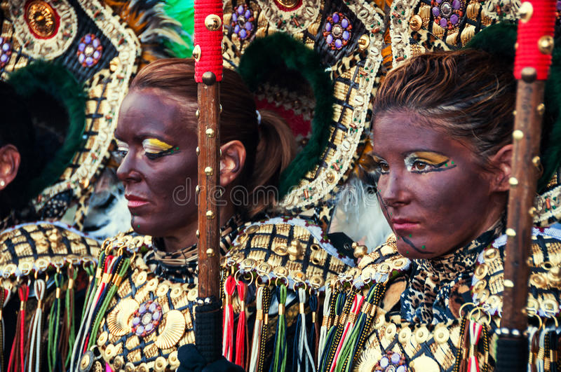 Festival of Moors and Christians in Spain stock photography