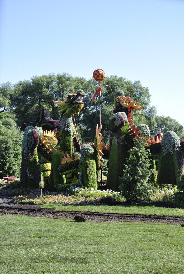 Festival MosaiCanada 150 dal parco Jacques Cartier da Gatineau nella provincia di Ontario fotografia stock