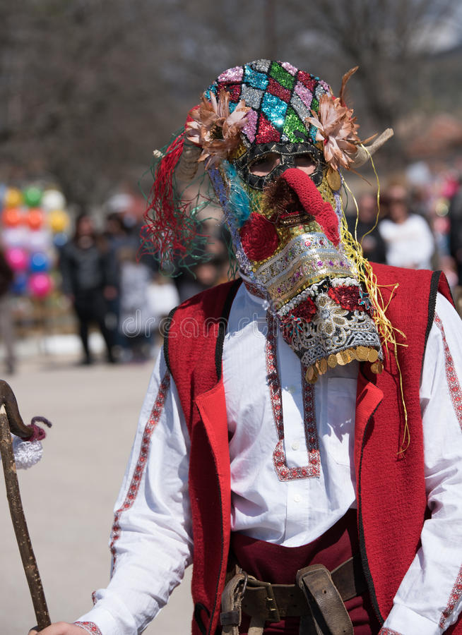 Festival of Mummers in Paisievo, Bulgaria royalty free stock photos
