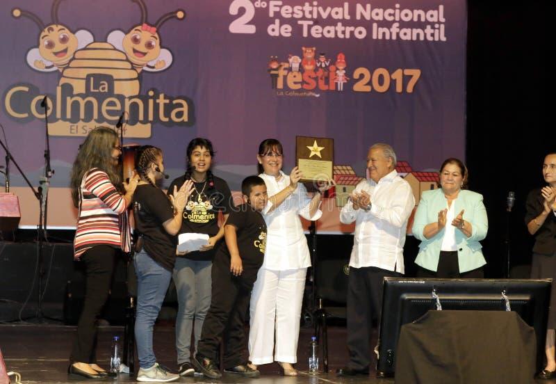 Festival Nacional de Teatro Infantil d'Inauguracià ³ n de segundo photos stock