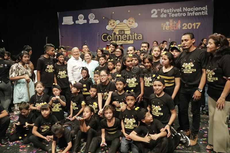 Festival Nacional de Teatro Infantil de Inauguracià ³ n de segundo imagen de archivo libre de regalías