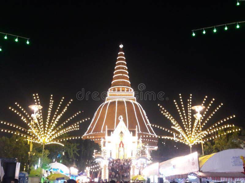 Festival Nakhon Pathom di Phra Pathom Chedi fotografie stock
