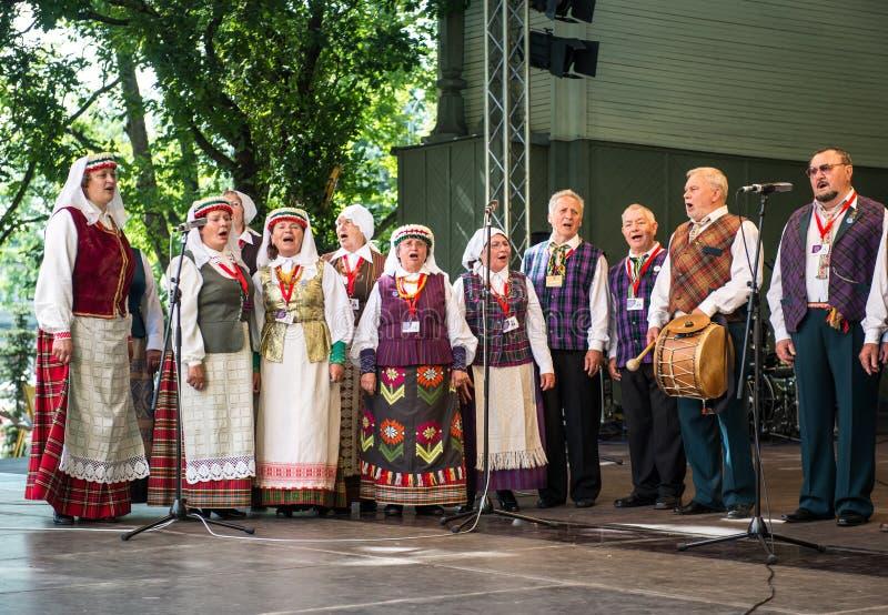Festival national letton de chanson et de danse images libres de droits