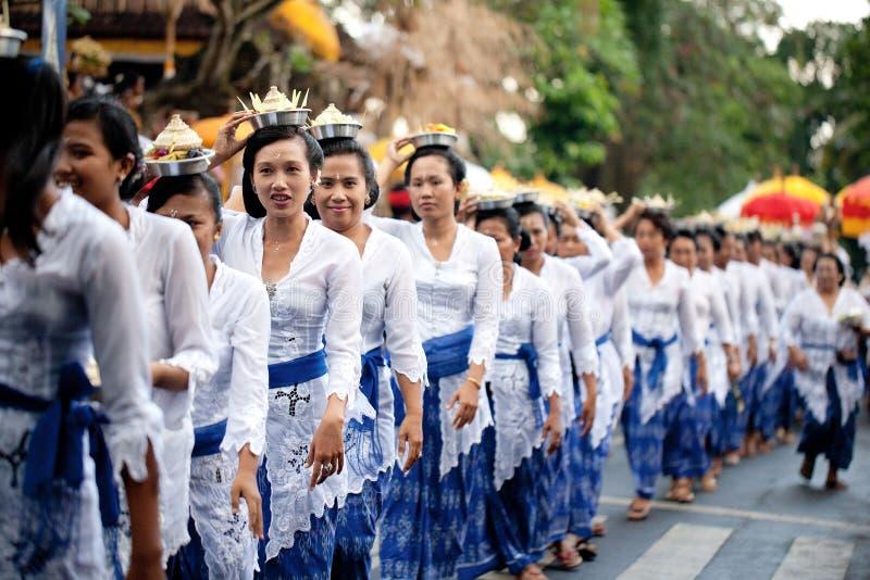 Festival Odalan del templo fotos de archivo libres de regalías
