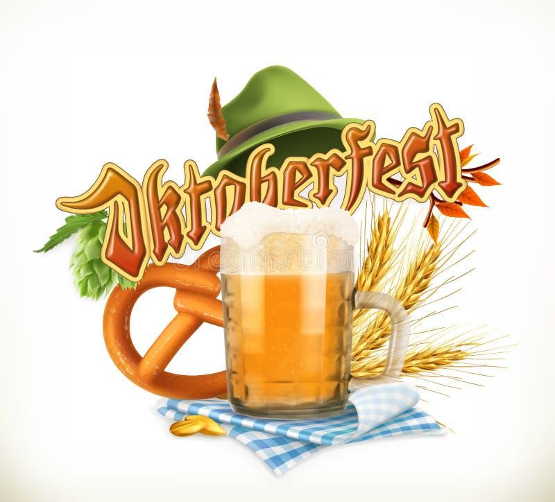 Festival Oktoberfest, vector de la cerveza de Munich stock de ilustración