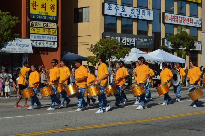 Festival-Parade 2015 Los Angeless Korea lizenzfreies stockbild
