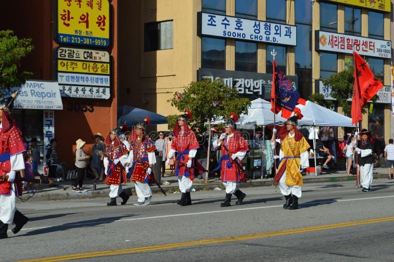 Festival-Parade 2015 Los Angeless Korea lizenzfreies stockfoto