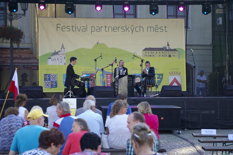 Festival partner cities 2016. Castle Square in Frýdku will be Friday, September 9 from 14 to 19 hours of partner cities to host Festival 2016 the cultural royalty free stock photo
