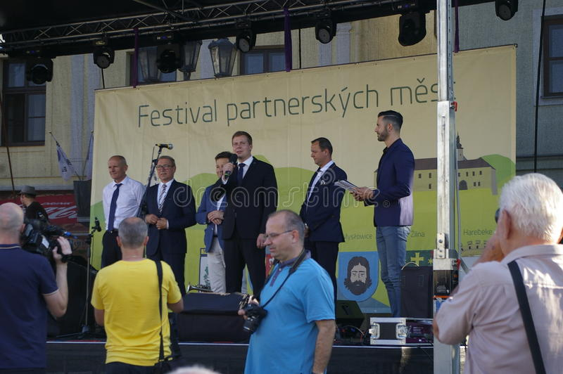Festival partner cities 2016. Castle Square in Frýdku will be Friday, September 9 from 14 to 19 hours of partner cities to host Festival 2016The cultural royalty free stock photography