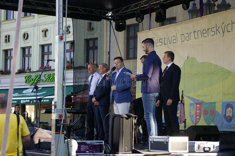 Festival partner cities 2016. Castle Square in Frýdku will be Friday, September 9 from 14 to 19 hours of partner cities to host Festival 2016The cultural royalty free stock photos